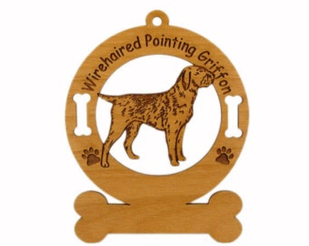 4245 Wirehaired Pointing Griffon Personalized Ornament