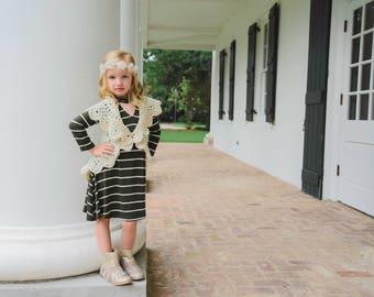 Girls crochet sweater - Mandala sweater - infant sweater - Fall sweater - circle sweater - baby sweater - toddler sweater  - crochet shrug