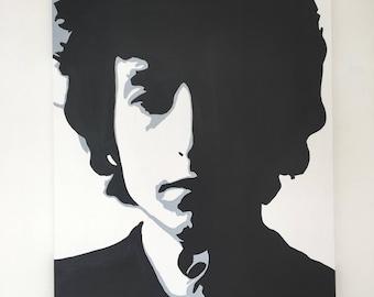 Bob Dylan Original Handpainted Framed Pop Art Canvas Painting