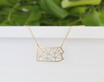 Pennsylvania Geometric Necklace | Small | ATL-N-173