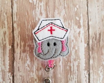 Elephant Badge Reel, Elephant Badge Holder, Elephant Badge Clip, Felt Badge Reel, Retractable Badge Reel, Nurse, Teachers, Office Workers