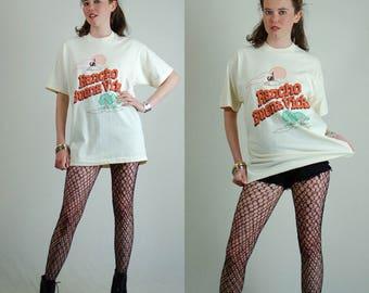 Screen Stars Tee Vintage 80s 90s Rancho BUENA VIDA Screen Stars Made in the USA T Shirt (m l)