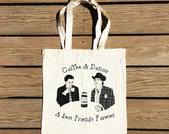"Twin Peaks ""Coffee & Donuts"" Tote Bag"