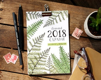 SALE 30% OFF 2018 illustrated calendar