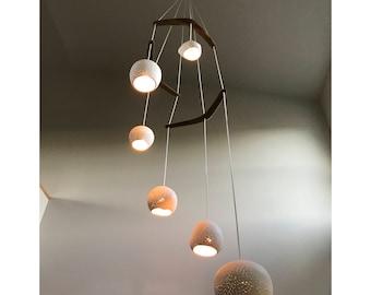 Chandelier lighting: CLAYLIGHT BOOMERANG HEX