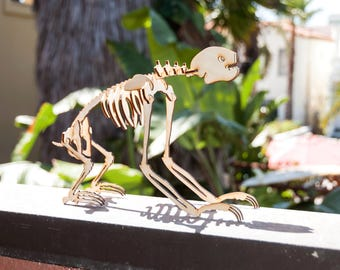 Three-Toed Sloth Skeleton Model / Puzzle - Laser-Cut Baltic Birch
