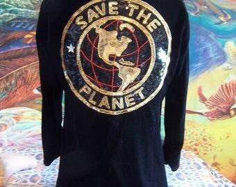 SAVE the PLANET, Velvet, Jacket, Black, Blazer, Coat, size S