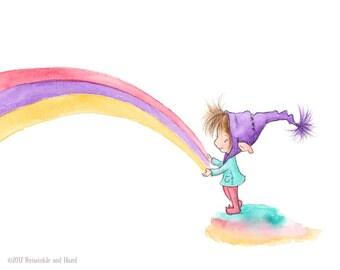 Maragold's Rainbow - Elf Art - Art Print