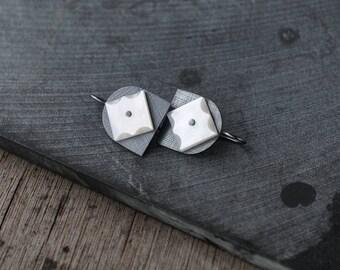 Star Studded Oxidised Tulips 02 earrings