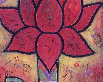 Colorful, Original, Acrylic, Whimsical Painting - Light Energy