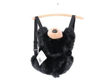 1990s Teddy Bear Backpack Plush Purse 90s Stuffed Animal Book Bag NWT Deadstock Club Kid Soft Grunge Cute Kawaii Glitter Goth Bag Festival