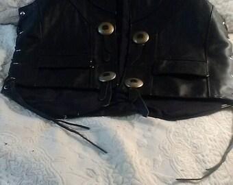 Vintage Harley Davidson leather vest