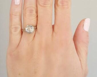 Edwardian engagement ring, filigree diamond ring, antique diamond ring, antique engagement ring, engagement ring, edwardian diamond ring
