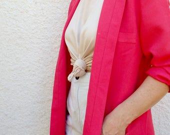 Womens Blazer Vintage Pink