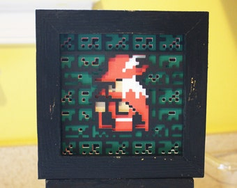 Final Fantasy Red Mage 8-bit Layered Paper Art
