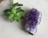 Raw Amethyst Geode - Purple Power Crystal - Home Altar - Bohemian Hippie Decor - Purple Amethyst Mineral Rock Specimen - Chakra Stone