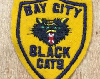 Vintage Bay City Black Cats Patch