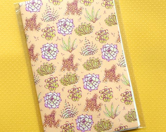 sweet succulents - notebook - 30 pages blank