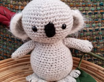Crocheted Koala Amigurumi Softie.