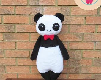 Instant Download English and Dutch PDF Crochet Patterns: Baby Panda