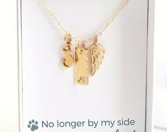 Cat Loss - Pet Memorial Jewelry - Cat Memorial Necklace - Pet Loss Gifts - Pet Loss Necklace - Cat Necklace Personalized - Pet Sympathy Gift