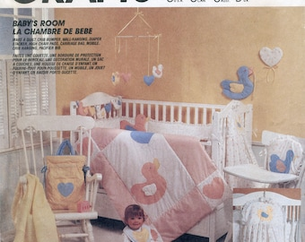 Nursery Accessories Sewing Pattern McCall's 2907 UNCUT Duck Quilt, Crib Bumper, Diaper Stacker, High Chair Pad, Bib, Stroller Bag, Mobile