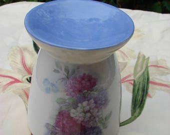 Brightly Colored Hydrangias Ceramic Tea Light Tart Burner
