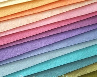 Rainbows and Unicorns Wool Blend Felt Collection - 15 6x9 Sheets