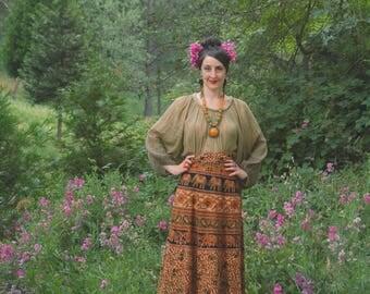 Gypsy Skirt / Wrap Skirt / Boho Skirt For Women / Cotton / Boho Skirt / Plus Size / Hippie Skirt / Festival Clothing / Indian Skirt