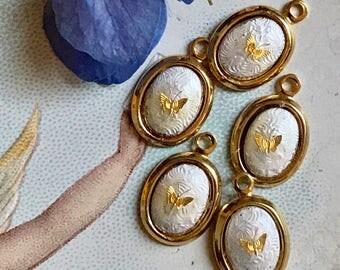14 kt Butterfly, Vintage Guilloche Butterfly Charm, Little Girl charm,Party Favor,14kt gold,Children's charm, Little Girls,NOS #23-O