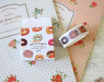 Delicious Doughnut cartoon washi masking tape