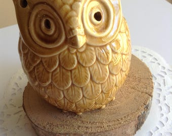 SALE! Adorable Vintage Ceramic Owl Tealight Candle Holder Made in Japan OOAK
