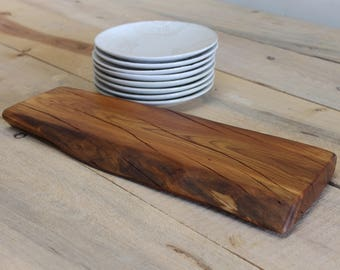 Cherry Wood Chef Board Serving Centerpiece