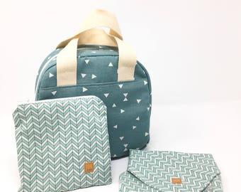 Lunch bag sandwich wrap and snack bag set lunch bag for women lunch tote insulated lunch bag gift for her gifts for women ecofriendly