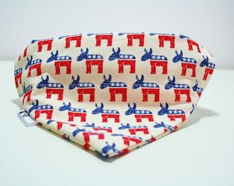 Stars and Stripes Cow Dog Bandana Cat Bandana Slip on Collar