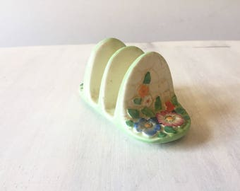 Crown Devon toast rack, vintage toast rack, vintage breakfast, ceramic toast rack, vintage Crown Devon, made in England, vintage kitchen