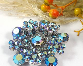 Vintage Aurora Borealis Starburst Brooch