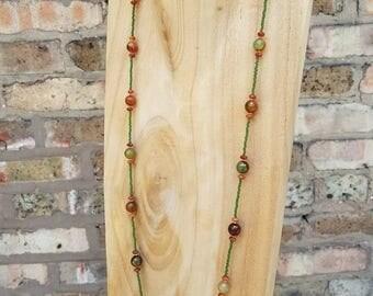 Olive Green Stone Neckalace