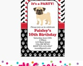 CHOOSE YOUR PUPPY - Puppy Birthday Party Invitations - Dog Birthday Party Invite - Printable Invite - Puppy Adoption Party Invitations - Pug