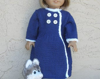 Lucy's New Coat Doll Knitting Pattern
