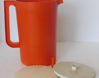 Tupperware Large Orange Pitcher