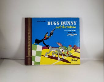 1948 Capitol Records Mel Blanc Bugs Bunny and the Tortoise Book and Records DBX93