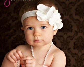 baby headband, newborn headband infant headbands, white headband, photography prop