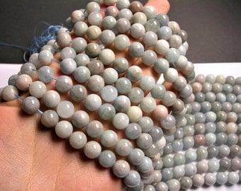 Aquamarine - 10mm round beads - Full strand - 40 beads - RFG1339