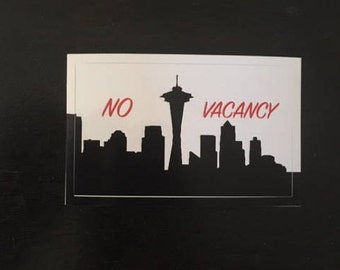 No Vacancy Seattle Skyline  5 Pack