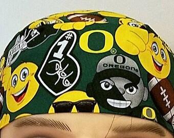 University of Oregon Skull Cap, Chemo Cap, Surgical Cap, Football, College, Sports, Hats, Do Rag, Helmet Liner, Head Wrap, Hair Loss, Caps