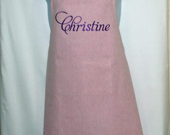 Apron With Name, Custom Personalized With Mom, Wife, Friend, Sister, Aunt, Grandma, Nana, No Shipping Fees, Ships TODAY AGFT 109