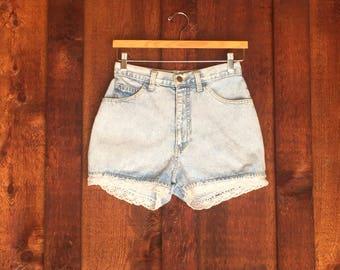 Vintage High Waist JUST USA Jean Shorts • Denim Shorts