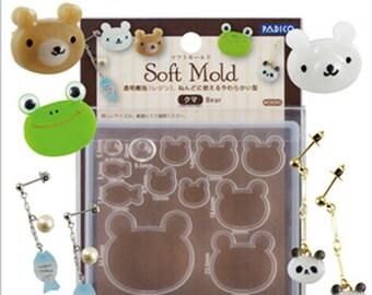 Padico Bear flexible mold/Padico Panda flexible mold/Bear mold for resin/Bear mold for DIY jewelry/Panda resin mold/Panda DIY jewelry mold