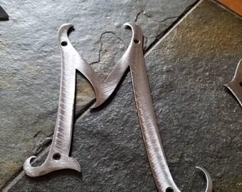 1 Inch Metal Letters Custom Metal Letters Western Rustic Steel Numbers Symbols 8